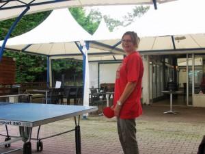 Vlasta au ping pong !
