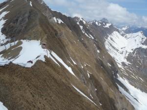 Les Aravis avec les skieurs sur Balme