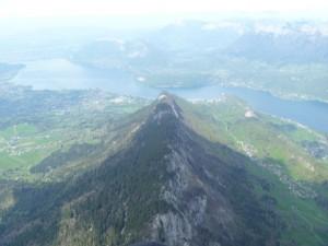Le lac d'Annecy depuis le Roc des Boeufs