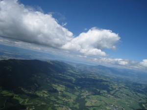 Vue à 2000m au dessus d'Allonzier
