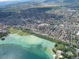 Transition au dessus d'Annecy